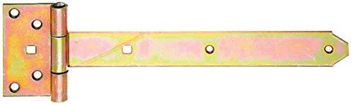 GAH-Alberts 310912 Kreuzgehänge | mit verpresstem Stift | galvanisch gelb verzinkt | Band 291 x 40 mm | Scharnier 103 x 59 mm