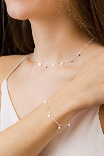 Silberkette mit kleinen Plättchen 925 für Damen