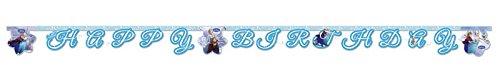 1 Happy Birthday Banner * FROZEN ICE SKATING * für Kindergeburtstag oder Motto-Party // Kinder Geburtstag Party Paper Letter Banner Buchstaben Kette Motto Disney...