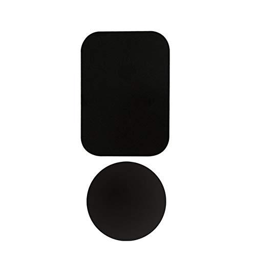 RoxTop Placa de Metal de Disco para el imán del teléfono del Coche Soporte de Hoja de Hierro Pegatina para el sostenedor del teléfono móvil magnética Soporte del Coche Monte Negro