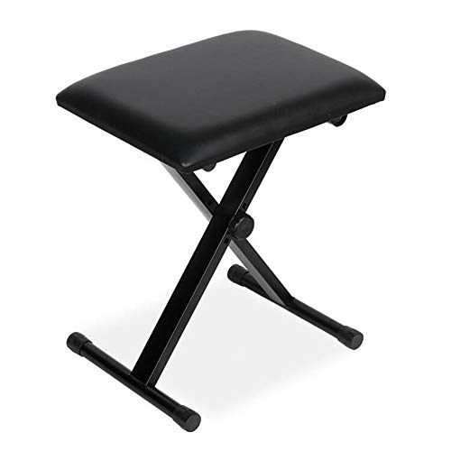 Fantastic Prices! Stools LIUNA Keyboard Foldable Padded Seat X Frame Chair Adjustable Height Piano B...