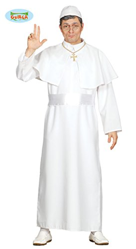 Fiestas Guirca Costume da Papa Uomo tonaca Bianca Misura Unica
