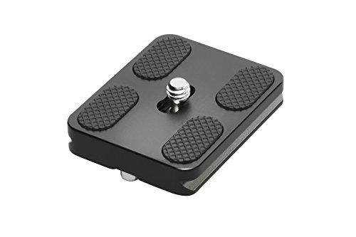 """Cullmann 40484 Schnellkupplungsplatte Arca-Swiss kompatibel (50 mm) für \""""MUNDO\"""" Stative schwarz"""