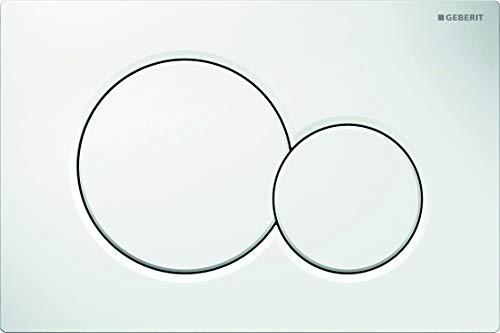 Geberit 115770115 Betätigungsplatte Sigma01, Kunststoff für 2-Mengen-Spülung 1 Stück