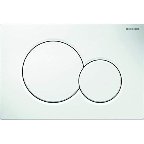 Geberit 115.770.11.5 Placca di Comando Sigma 01 per Risciacquo a due Quantità, Bianco