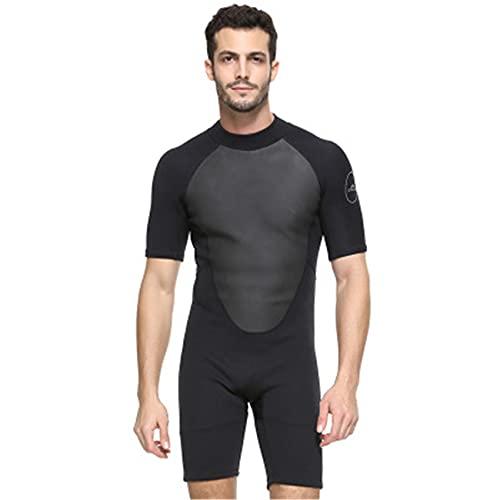 FR&RF Hombres de Neopreno de 2 mm de Neopreno Mantenga un Traje de baño de Buceo de Buceo de Buceo cálido. Triatlón de Manga Corta triatlón para Snorkel,1,2XL