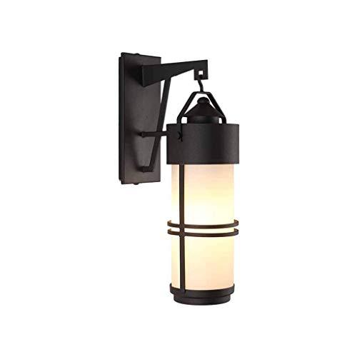 LONGWDS Lámpara de pared Estilo retro retro industrial lámpara de pared impermeable al aire libre pared del dormitorio de la lámpara de noche Corredor de la lámpara de la sala de oficina Oficina Balcó