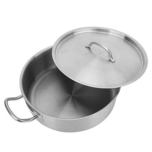 Olla de sopa, olla de cocina, acero inoxidable de doble asa para hervir estofado de sopa
