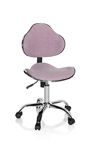 hjh OFFICE 634131 Kinder Schreibtischstuhl KIDDY GTI-3 Stoff Rosa Kinderbürostuhl Drehstuhl ergonomisch, mitwachsend