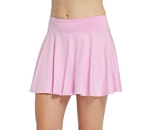 Cityoung Women's Pleated Tennis Skirt High Waist Active Skorts Skirt with Pocket for Running Golf Workout l l_pk Pink