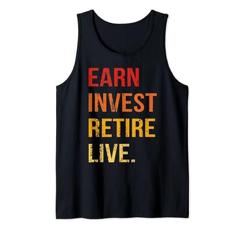 Ganar Invertir Jubilarse Vida Comercio Invertir Finanzas Camiseta sin Mangas