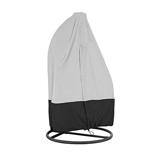 Patio Hangstoelhoes Waterdicht 190T Polyester Stof Waterdicht Veranda Patio Cocoon Egg Chair Cover Regenbestendig winddicht en UV-bestendig,Gray and black,190x115cm