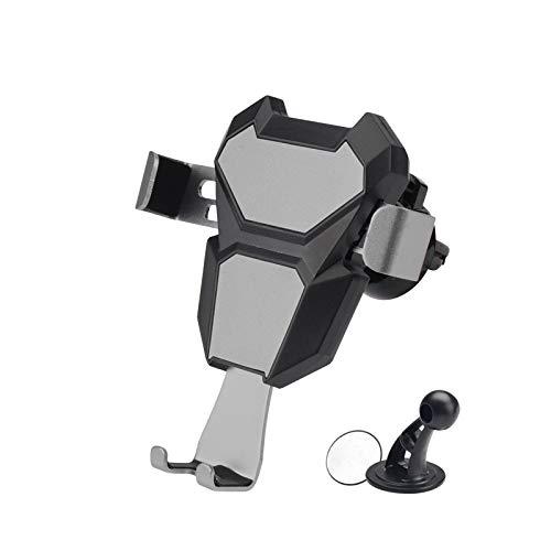 Soporte para Teléfono para Automóvil, Abrazadera Ajustable Y Sistema De Ventilación para Teléfono para Automóvil Giratorio De 360 ° Gris Espacial