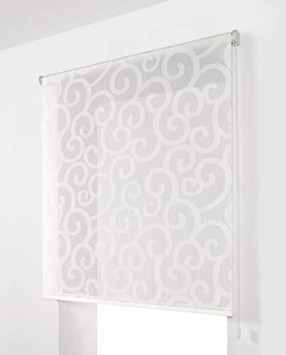 Estoralis Ornella Estor Enrollable Visillo Translucido, Blanco, 130 x 250 cm
