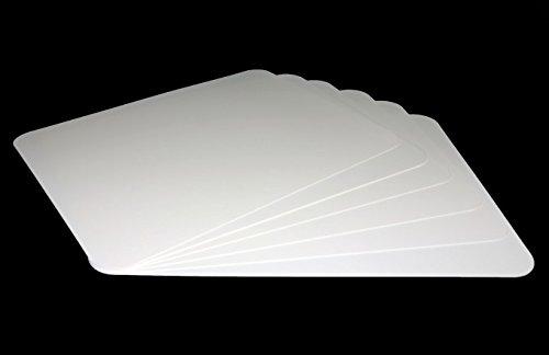 Vogt Foliendruck GmbH Tischunterlagen-Set weiß, 6-teilig, abwaschbar, Tischset, Platzset, Matte