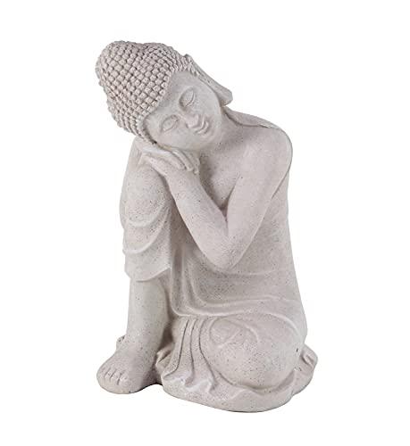 Deco 79 36744 Resting Buddha Sculpture, 13' W X 20' H, Gray