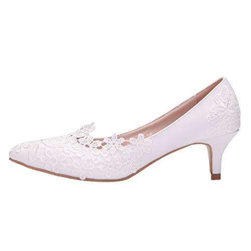 Holibanna Zapatos de Boda para Novia Zapatos de Punta Cerrada Zapatos de...
