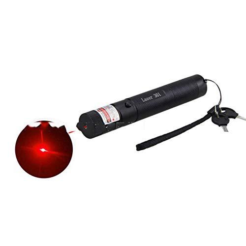 Fnho Carga USB portátil de Alta Potencia,Linterna LED con Enfoque Ajustable,Lápiz Puntero de Comando de Ventas, Linterna Exterior-Red_Luxury
