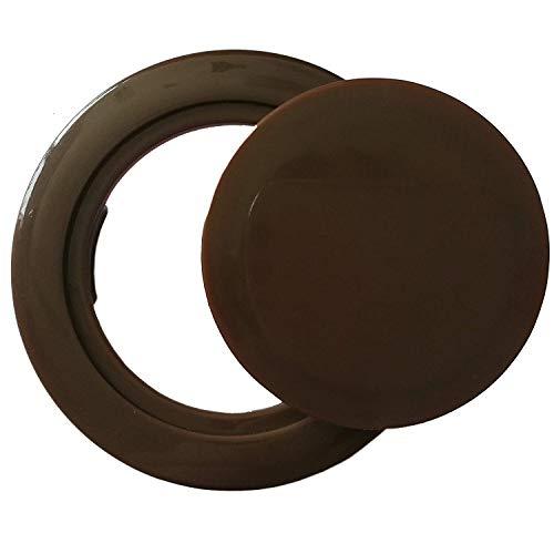QIQIHOME Patio Parasol Umbrella Hole Ring Cap Plug Set, Coffee Plastic, 2-in. (Brown)