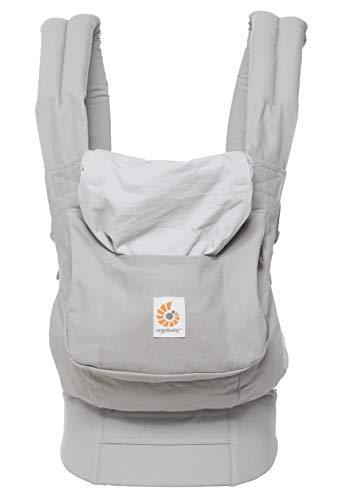 Ergobaby Babytrage Original Pearl Grey, Babytragetasche Ergonomisch und Atmungsaktiv, Baby Tragesystem von 5.5 bis 20kg, Kindertrage Rückentrage