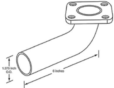 Exhaust Elbow Flange Adapter - Quiet Diesel - Under 10 KW - A026E098