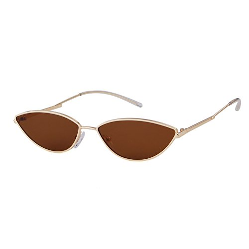 ADEWU 2018 Small Cat Eye Sunglasses with Metal Frame Men Women