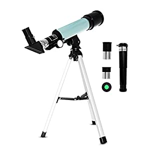Iadong Kids Astronomical Telescope, Professional 90X Astronomical Landscape Telescope with Tripod, 2 Magnification Eyepieces, 1.5X Barlow Len, Early Science Educational Toys for Children