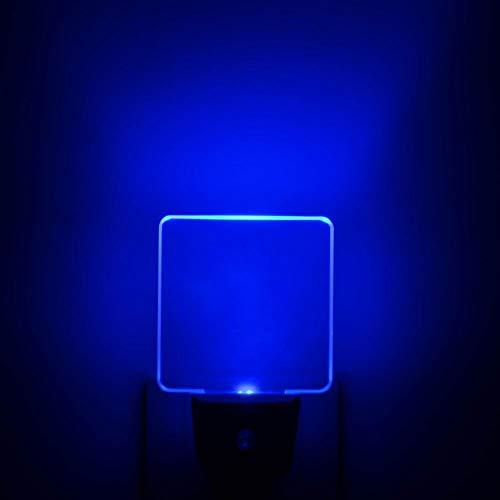 UL Listed 0.5W Plug in LED Blue Night Light, Dusk to Dawn Sensor, 2 Pieces