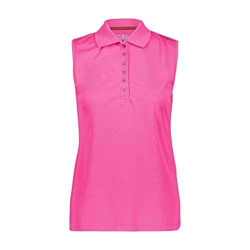 CMP Poloshirt ohne Ärmel, einfarbig, Damen 2XL Bouganville