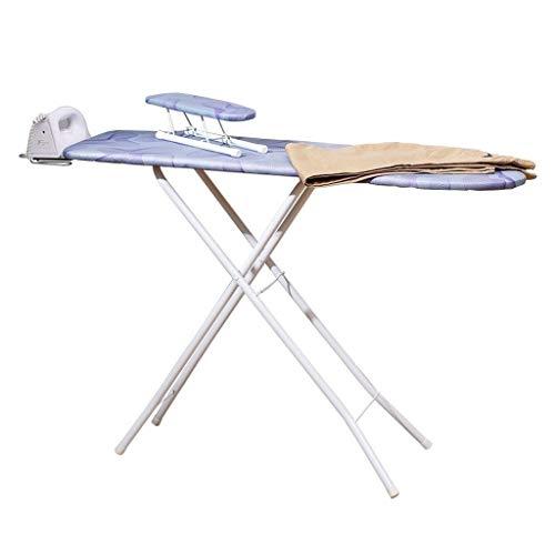 Tablas de Planchar Moderna y Liviana -CDingQ 42 pulgadas tabla de planchar, dormitorio Armario tabla de planchar resistente al calor del metal del hierro de vapor de descanso, cubierta de tela azul, c