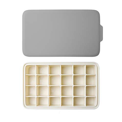 Moldes para Polos De silicona Ice Cube bandejas, cubo de hielo Contenedor de almacenamiento fijado con el hermético que traba la tapa, cubo de hielo Moldes, mantener las bebidas refrigeradas, reutiliz