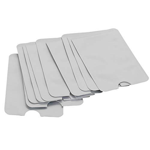 Switty 10 paquetes de identificación RFID antirrobo El bloqueo de escudo protector de la manga impermeable caso titular de la tarjeta de crédito seguro y pasaporte