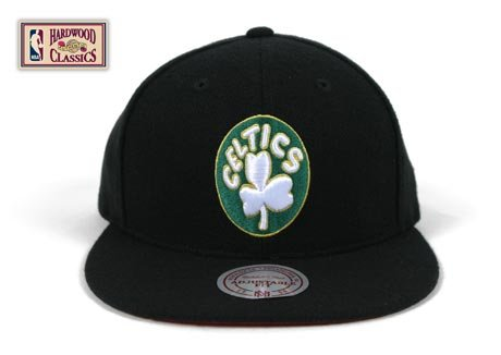 Boston Celtics Black Snapback Adjustable Plastic Snap Strap Back Hat/Cap