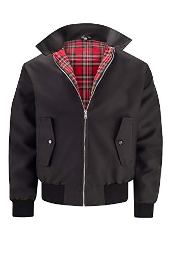 Classic Vintage Unisex Harrington Jacket in a big choice of colours with tartan lining.