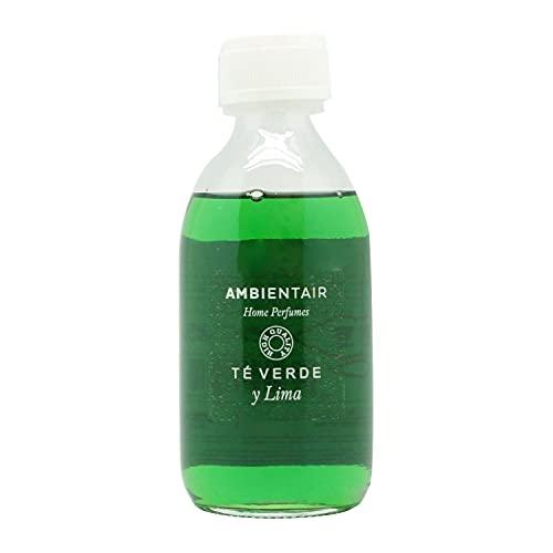Ambientair Home Perfumes. Recambio para ambientador 250ml. Té Verde y Lima. Recambio para difusor de Varillas. Líquido para Rellenar tu ambientador Mikado de palitos. Sin Alcohol.