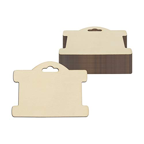 Jewelry Display Card Wood Tags Bracelet Display Cards Blank Unfinished Wood Necklace Card Holder Hanging Cards Earrings Showing Tags (3.94x2.87 in, 20 Pcs)