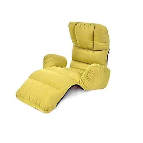 ECSD Salon Canapé-lit Pliant Réglable 8-Position Lounger Sleeper Futon Matelas Chaise Chaise ,Baie Fenêtre Sofa (Couleur : Green)