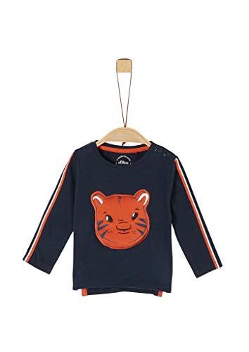 s.Oliver Unisex - Baby T-Shirt langarm navy 92