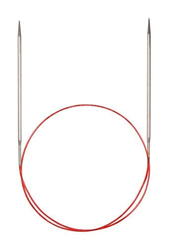 Addi Turbo–Agujas de Tejer Circulares, para Encaje, Metal, White Bronze, 60 cm, 3.25 mm