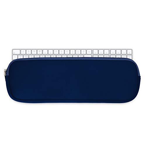 kwmobile Custodia Tastiera Compatibile con Apple Magic Keyboard Senza Tastierino Numerico - Porta Tastiera PC - Keyboard Cover con Cerniera - in Neoprene Blu Scuro
