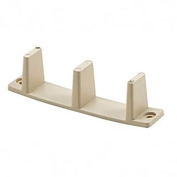 Prime-Line N 7527 by-Pass Closet Door Guides 1-3/8 in Plastic Tan Non-Adjustable Floor Mount Pack of 2