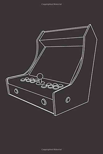 Bartop Arcade Machine Outline: Blank Lined Notebook, Journal or Diary
