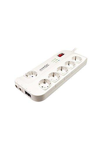 Mooster 8435353706118 Stekkerdoos met 6 stopcontacten met bescherming van 10 tot 15 m