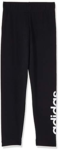 adidas Essential Linear Tight Girls Mallas, Niñas, Negro (Black/White), 13-14Y | 164