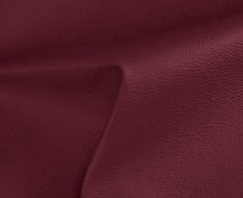 HAPPERS 0,50 Metros de Polipiel para tapizar, Manualidades, Cojines o forrar Objetos. Venta de Polipiel por Metros. Diseño Solar Color Granate Ancho 140cm
