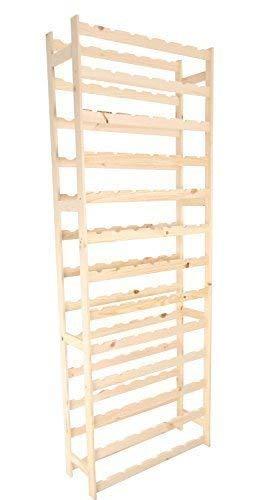 MODO24 Weinregal, Holz, unbehandelt, 72,5 x 25 x 198 cm, 29-Einheiten