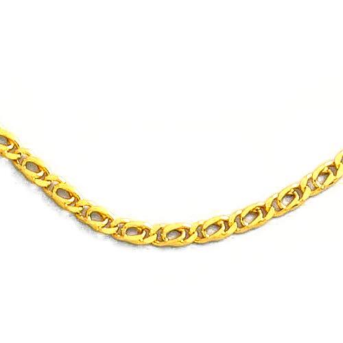 MAG - ketting van 18-karaats goud, dubbele schakel, 60 cm lang, 3 mm breed