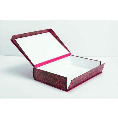 Mariola 0687 - Caja con forma de libro fabricada en cartón forrado formato folio lomo