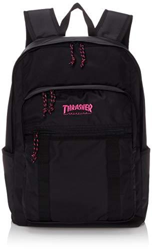 [スラッシャー] [ユニセックス] リュック 25L (撥水加工)[ THR-138 / Backpack ] おしゃれ A4収納 BKPK_ブラック・ピンク