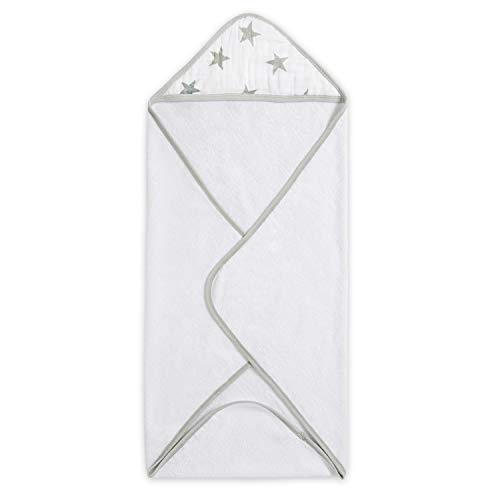 aden by aden + anais cape de bain à capuche, éponge de coton avec capuche en mousseline, 78cm X 78cm, dusty